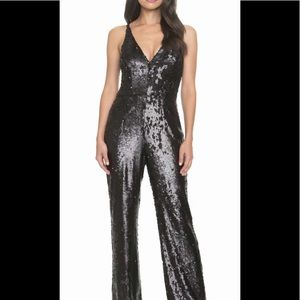 *brand new with tags gorgeous black sequin romper!